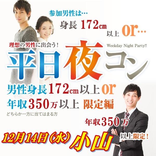 第3回 平日夜コン@小山~高身長or高収入男子編