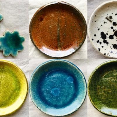 初心者でも簡単にお皿作りが出来ます。