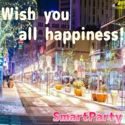 スマートパーティーは各地で年間1000本超のパーティーを開催中! 「一人でも多くの方に幸せを届けたい♪」という想いがモットーです! ぜひパーティーへお越しください♪♪