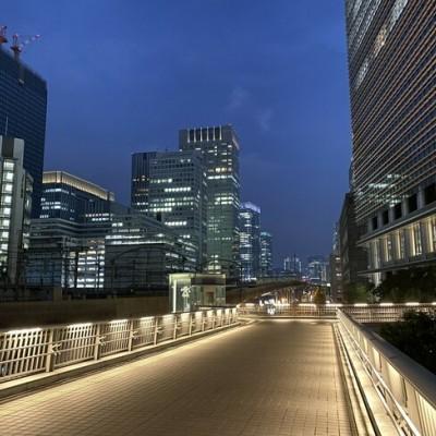 実際の散歩コースです★東京駅周辺のビルを一望できます!