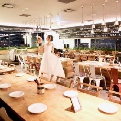 当日会場店舗 TSUKADA FARM〜阪急32番街店〜様 インスタ映え確実のオシャレな豪華レストランです。