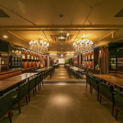 当日会場店舗 兆ーKIZASHIーDOJIMA様 インスタ映え確実の豪華シャンデリアホテルダイニングです。
