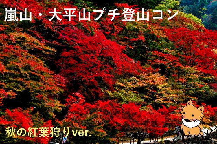 ゆっくり過ごそう(^ω^)嵐山・大平山プチ登山コン【秋の紅葉狩りver.】